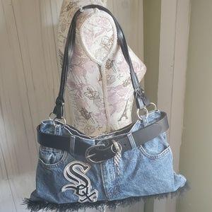 Handbags - Chicago White soxx hand made denim shoulder bag